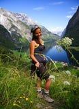 hiker Норвегия стоковое изображение rf