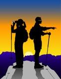 hiker пар Стоковые Изображения