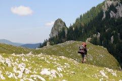 hiker сиротливый Стоковая Фотография