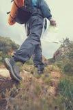Hiker с картой Стоковое Изображение RF