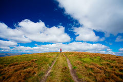 Hiker in autumn Royalty Free Stock Images