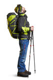Hiker with backpack Stock Images