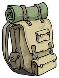 Hiker backpack Royalty Free Stock Photography