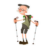 Hiker with backpack Royalty Free Stock Images