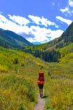 Hiker Backpacker Colorado Fall Stock Photos