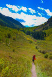 Hiker Backpacker Colorado Fall Stock Image