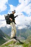 Hiker boy Royalty Free Stock Photo