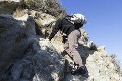 Hiker climbs Royalty Free Stock Photo