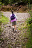 Hiker in Costa Rica Royalty Free Stock Images