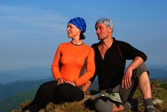 Hiker couple Stock Photography