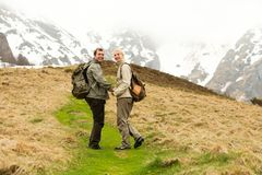 Hiker couple Royalty Free Stock Photo