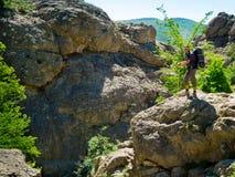 Hiker in Crimea Royalty Free Stock Photo