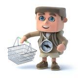 Hiker 3d идет ходить по магазинам бесплатная иллюстрация