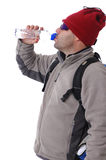 Hiker drinking water Royalty Free Stock Photography