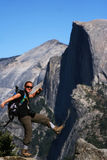 Hiker at the Edge - Yosemite Royalty Free Stock Photography