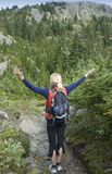 Hiker enjoying outdoors Royalty Free Stock Photography