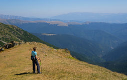 Hiker enjoying the view Royalty Free Stock Photos