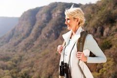 Hiker enjoying view Stock Image