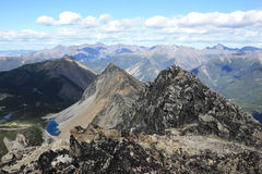 Hiker enjoying the views in the Lillooet Ranges of Canada. Royalty Free Stock Images