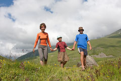 Hiker family Royalty Free Stock Photography
