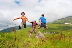 Hiker family Royalty Free Stock Photos