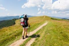 Hiker girl Stock Photo