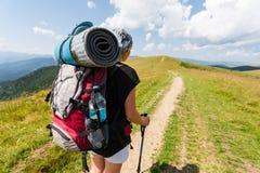 Hiker girl Stock Photography