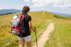 Hiker girl Stock Photos