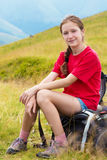 Hiker girl Royalty Free Stock Photo