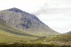 Hiker glen coe highlands scotland Royalty Free Stock Images
