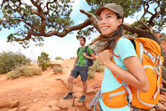 Hiker in Grand Canyon Stock Image