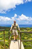 Hiker in Hawaii Stock Photo