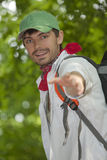 Hiker helping Stock Photography