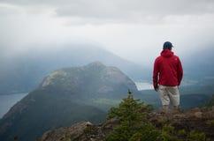 Hiker on hilltop