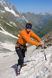 Hiker with ice-axe Royalty Free Stock Images