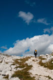 Hiker in Julian alps Stock Images