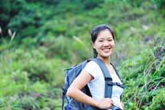 Hiker in jungle Stock Photos