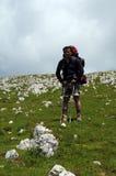 Hiker on the mounatin Stock Photo