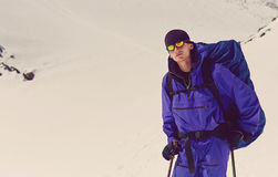 Hiker in the mountain Stock Photography