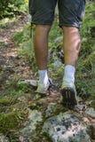 Hiker on mountain rocks 2 Stock Photography