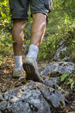 Hiker on mountain rocks 3 Royalty Free Stock Photography
