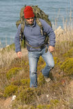 Hiker/mountaineer Stock Images