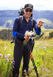 Hiker in mountains Royalty Free Stock Photos