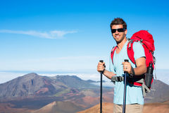 Hiker in the mountains Stock Image