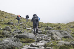 Hiker on the Mountains in the Lake District, England Royalty Free Stock Photo