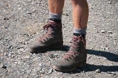 Hiker in nature, Salzburger Land, Alps, Austria Stock Images