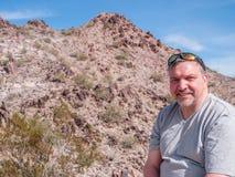 Hiker near Phoenix Arizona Stock Images