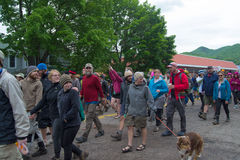 Hiker Parade - Trail Days Festival Stock Photography