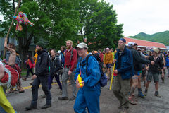 Hiker Parade - Trail Days Festival Stock Photo