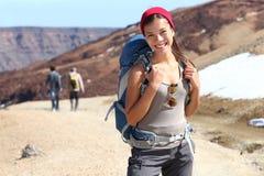Hiker portrait stock images